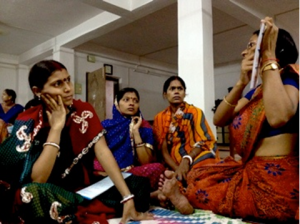 Meeting for pregnant women lead by Laxmi Gupta